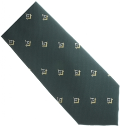 Green / Gold Masonic Tie Model # 358574