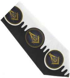 Black Square & Compass Wave Tie Model # 358586