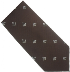 Brown / Tan Square & Compass Tie Model # 358609