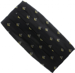 Black Square & Compass Cummerbund Model # 358618