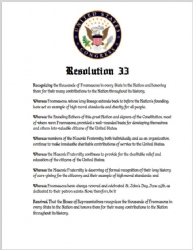 House Resolution #33 Print Model # 358650