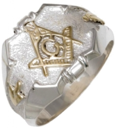 Two Tone Masonic Ring
