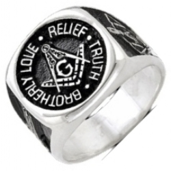 Brotherly Love, Relief & Truth Masonic Ring