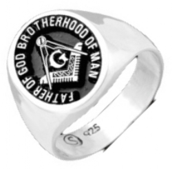 Fatherhood of God Brotherhood of Man Masonic Ring