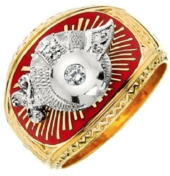 Shriners Solitaire Ring