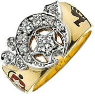 Jeweled Shriners Ring