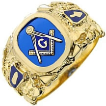 Master Mason Nugget Ring