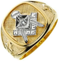 Jeweled Master Mason Ring