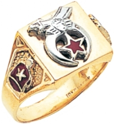 Square Top Custom Shriners Ring