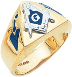 Triangle Faced Masonic Ring