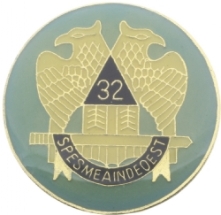 Round Scottish Rite Pin Model # 360965