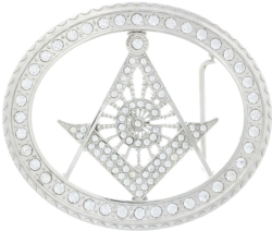 Jeweled Masonic Belt Buckle Model # 360972