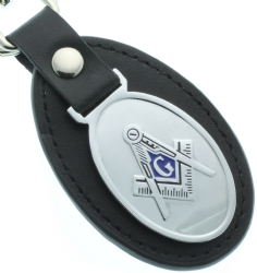 Leather Masonic Dual Hook Keychain Model # 360996