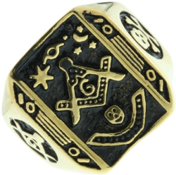 Masonic Pillars Ring