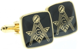 Square & Compass Cufflinks Model # 361094