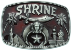 Maroon Shriners Belt Buckle Model # 361106