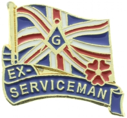 Masonic British Ex Serviceman Pin Model # 361132