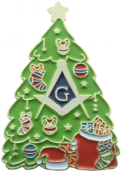 Masonic Christmas Tree Pin Model # 361136