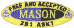 Free and Accepted Mason Patch 1 1/2 Inch Model # 361163