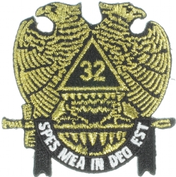 32nd Degree Wings Down Patch 2 7/8 Inch