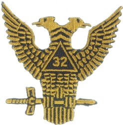 32nd Degree Wings Up Patch 2 7/8 Inch