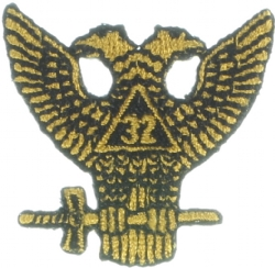32nd Degree Wings Up Patch 1 1/2 Inch