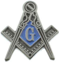 Pewter Tone Square & Compass Pin - Backordered Model # 361185