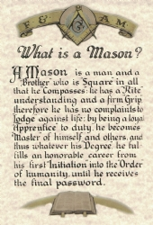 What is a Mason? Print Model # 361211