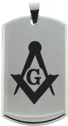 Heavy Stainless Steel Masonic Pendant Model # 361233