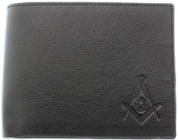 Black Sheep Skin Leather Masonic Wallet Model # 361266