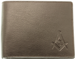Brown Sheep Skin Leather Masonic Wallet Model # 361267