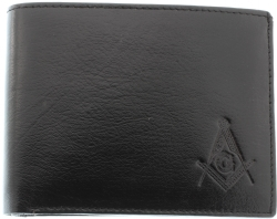 Black Buffalo Skin Leather Masonic Wallet Model # 361268