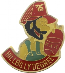 Hillbilly Degree Pin Model # 361342