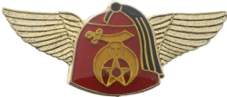 Winged Fez Shriners Pin Model # 361345