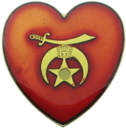 Shriners Heart Pin Model # 361347