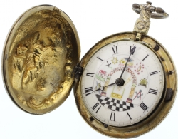18th Century Masonic Fusee Pocket Watch Model # 361362