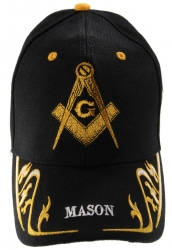 Black Square & Compass Mason Hat Model # 361412