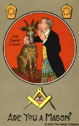 Are you a Mason? The Same Lodge Postcard Model # 361428