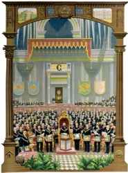 Grand Lodge In Session Postcard Model # 361443