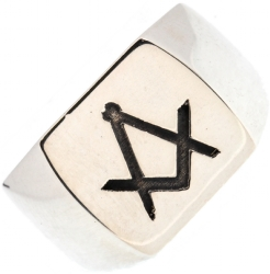 Rounded Box Top Signet Ring