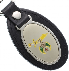 Shriners Leather Keychain Model # 361469