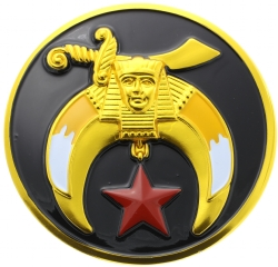 Black Shriners Auto Emblem Model # 361476