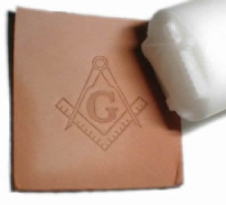 Square & Compass Leather Stamp Model # 361487
