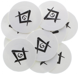 Tiny Round Square & Compass Stickers Model # 361493