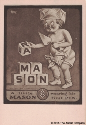 A Little Mason Wearing his First Pin Postcard Model # 361495
