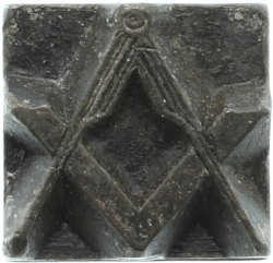 Vintage Square & Compass (No G) Printers Block Model # 361521