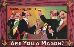 Are you a Mason? Signs and Grips Postcard Model # 361527
