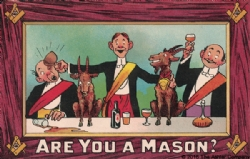 Are you a Mason? Dinner Postcard Model # 361529