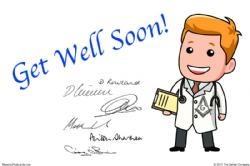 Lodge Cards - Get Well Soon Postcard Model # 361535