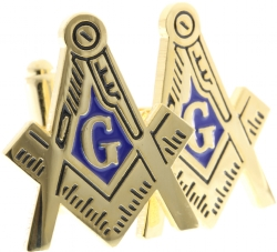 Large Square and Compass Cut Out Cufflinks Model # 361542